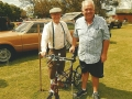 George and Derek with Moulton Bicycle