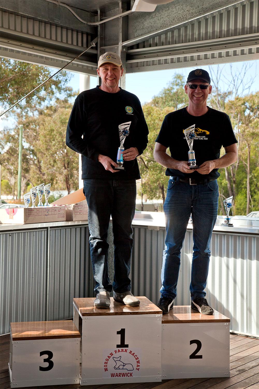 Rd 2-Sports Cars 3001cc & Over winners, Geoff & Martin