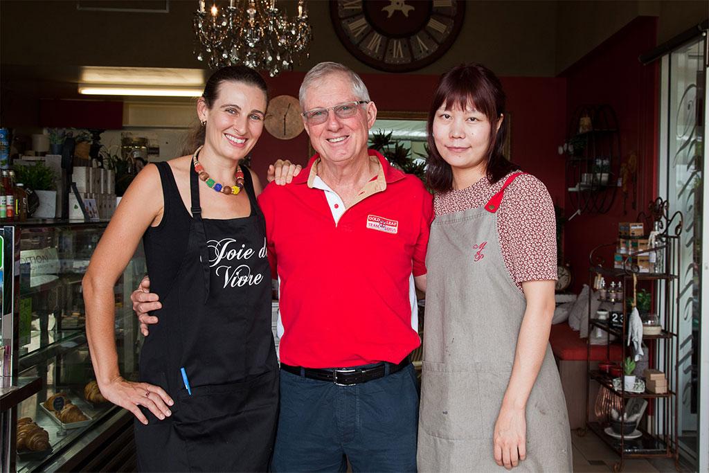 Zenita, Clive & Tracey