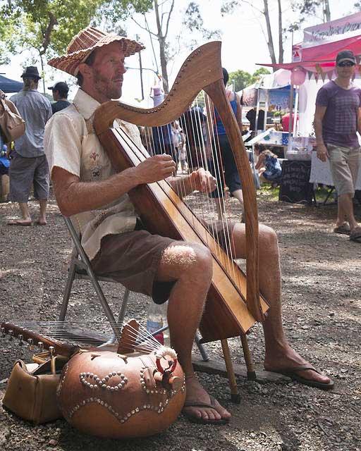 Harpist---Bangalow-Markets-