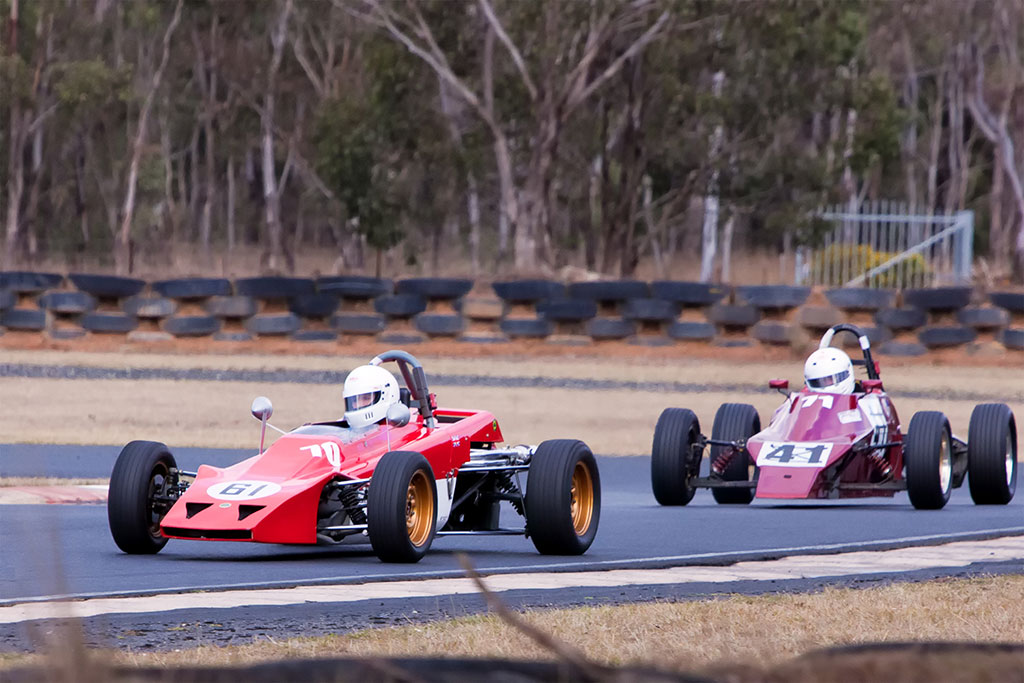 Greg leading in his Lotus 61