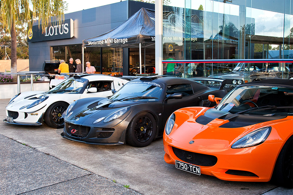 Presentation BBQ night at Lotus Cars Qld_gw