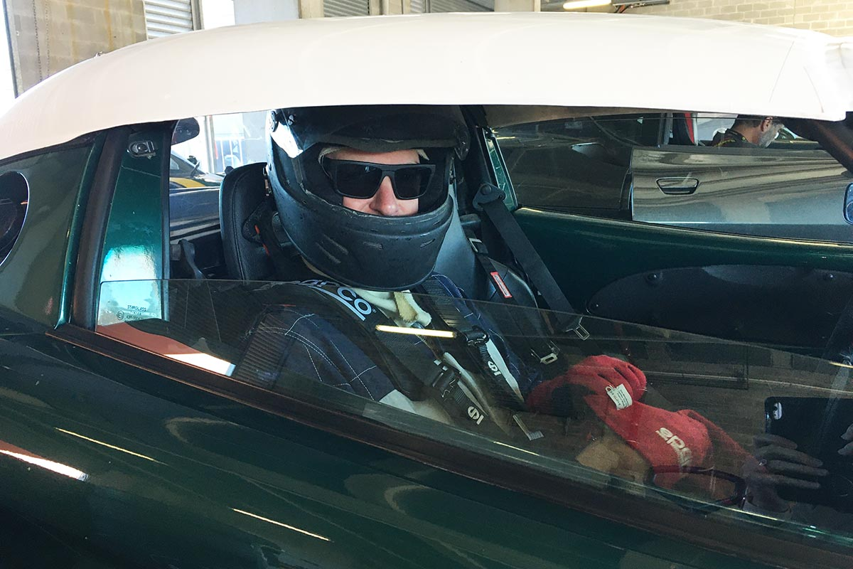 Barry-getting-strapped-in-ready