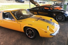 Eddie-Huffams-Lotus-Europa-with-its-modern-cousins-V-Black