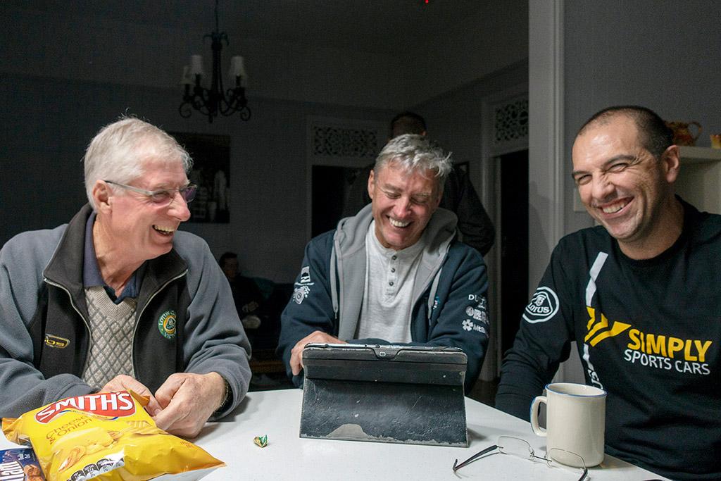 Clive, Darryl, Joe at afternoon tea
