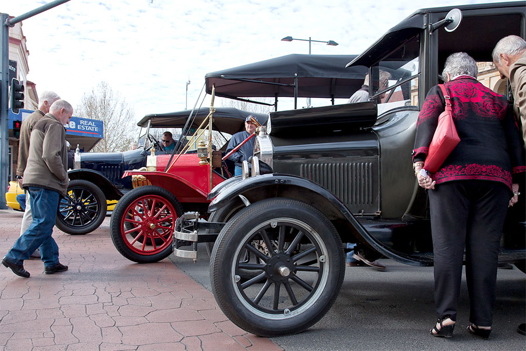 Vintage car display